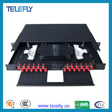 1u 24 Port 19inch Fiber Patch Panel with FC Adapters