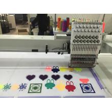 Новая Конструкция 1500*1000мм Одиночная головная машина вышивки 15 цветов Wy1501hl