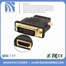 DVI Male to HDMI Adaptateur femelle plaqué or NOUVEAU convertisseur MF pour écran LCD HDTV