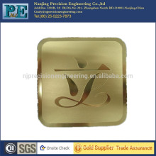 Corte de láser personalizado alumium company scutcheon