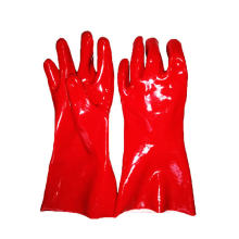Heavy Duty PVC Winter Work Gloves with Gauntlet Cuff Liquid And Chemical Resistant