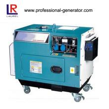 Gerador a diesel de 5kVA com refrigeração a ar com rodas de 10 polegadas