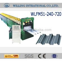Automatischer heißer Verkauf und gute Qualität 688 Fußbodenplattform-Rollenformmaschine