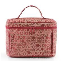 Bolsa para lavagem cosmética Lady Classic Letters Design Moda de poliéster (YKY7511)