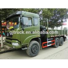 Camion de boîte de cargaison militaire de Dongfeng 6X6 pour le chargement résistant avec la carlingue regardant