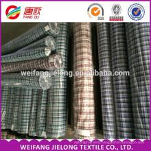 high quality 100% cotton plaid plain yarn dyed shirting fabric for garments wholesale yarn dyed cotton linen shirting fabric