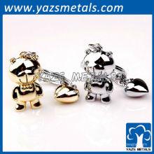chaveiros bonitos personalizados do metal dos pares com projeto pessoal