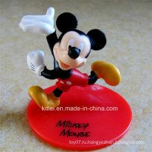 Высококачественный малый ПВХ подарок ICTI Сертифицированная пластиковая мышь Детские игрушки