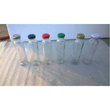 300ml Glass Juice Bottle with Different Color Caps