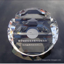 Crystal Card Holder Glass Crystal Paperweight