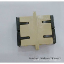 Sc Sm Dx Fiber Optic Duplex Adapter mit Beige Farbe Ark