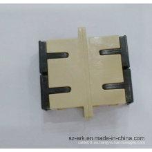 Adaptador dúplex de fibra óptica Sc Sm Dx con arca de color beige