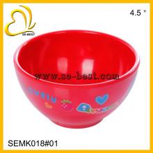 Rote Melaminschale für Kinder, Farbe Melamin mit Aufdruck