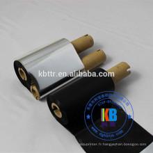 ruban de transfert thermique noir pour transfert de code à barres, résine de lavage