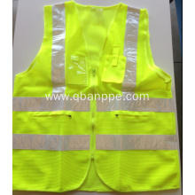 Reflective safety vest with pockets and PVC tape