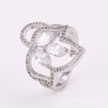 Baixo Preço Inovador Novo Design Anéis de Prata Anel de Jóias com CZ Flor 12297