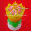 Bougies d'anniversaire de fleur de fantaisie