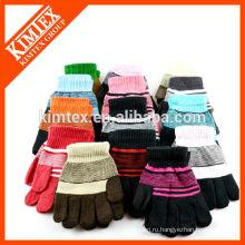 Акриловые трикотажные перчатки
