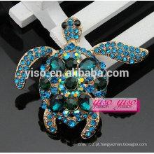 Brooch de moda de tartaruga de cristal de moda encantadora