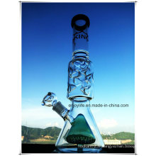 Hb-K70 Base Beaker Perc Inline Double Cone Shape Verre Smoking Water Pipe avec 3 pièces 9 Ice Notches