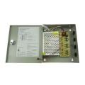 Fonte de alimentação 12v 6ch com caixa de metal