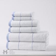 100% cotton 6 pack high quality towel set
