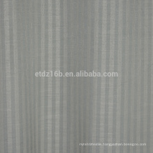 2016 new arrival Vertical stripes 100% Polyester Linen Like Jacquard Curtain fabric