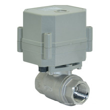 220V Motorized Flow Actuator Stainless Steel Ball Valve Electric Control Water Valve (T15-S2-C)