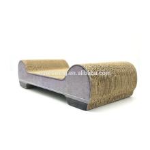 Factory price good quality cat lounge sofa cat scratcher cardboard corrugated cat cardboard SCS-7013