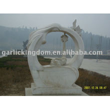 Lovely Mom And Baby Stone Carving