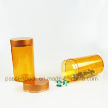 Âmbar pet plástico garrafa de vitamina comprimido com tampa de parafuso (PPC-PETM-019)