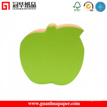 Green Apple Memo Pad Customized Fancy Writing Pad