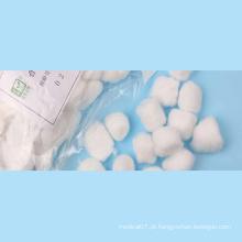 Bolas de algodão absorventes não estéreis