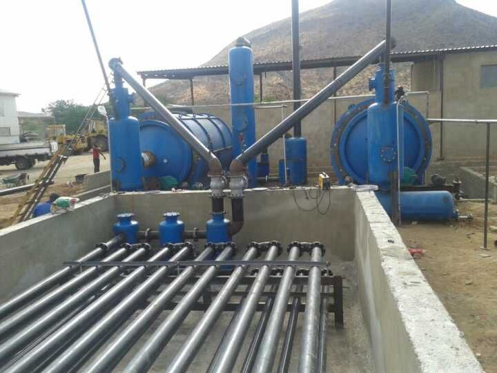 one and half pyrolysis cooling