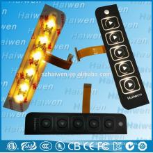 LED-Hintergrundbeleuchtung Folientastatur mit 3M468 Kleber
