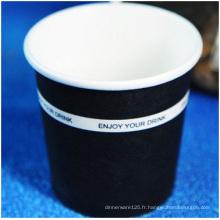 Tasse jetable adaptée aux besoins du client de papier, impression de logo