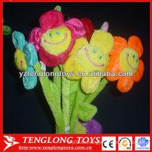 Girasol colorido para San Valentín flor de peluche de peluche con sonrisas