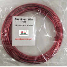 Painted Red Aluminum Wire