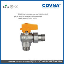 handle male female ball Angled gas valve price manufacturer
