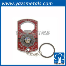 zinc alloy engrave key ring bottle opener