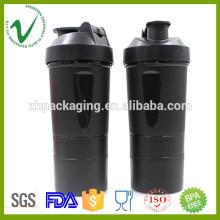 PP OEM design redondo água plástico joyshaker garrafa com grau alimentar
