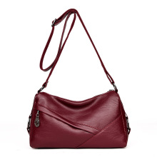 Popular Western Style Ladies Leather straw Shoulder Bag