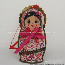 Adorable Girl-shaped Paper Garment Hang Tags of Creative Design