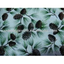 100% напечатаны гладкая хлопчатобумажная ткань цветок печати