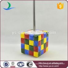 Moderno Rubik's Cube titular de cepillo de cerámica de tocador