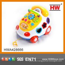 Pull Linie Baby musikalischen Handy Spielzeug Blöcke lustige Baby Spielzeug Lamaze Baby Spielzeug