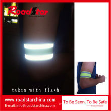 100%Polyester hook and loop closure reflective wristband
