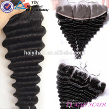 Virgin Brazilian Lace Frontal Closure 13*4 Water Wave Frontals Ear To Ear Bleached Knots Lace Frontal