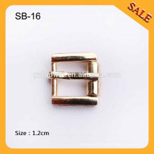 SB16 Nickle Free Gold Color Metal wire-formed roller pin buckles Strap adjust