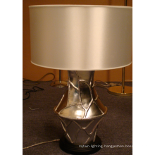 Modern Decoration Resin Hotel Table Lamp with Silk Shade L12021